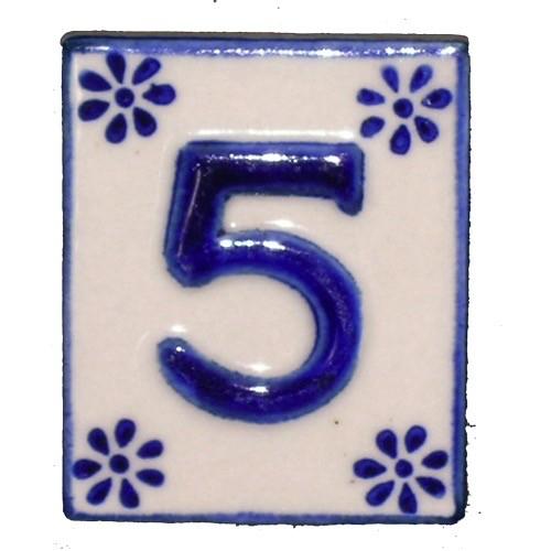 Australia #5 TILE Blue/White Ceramic