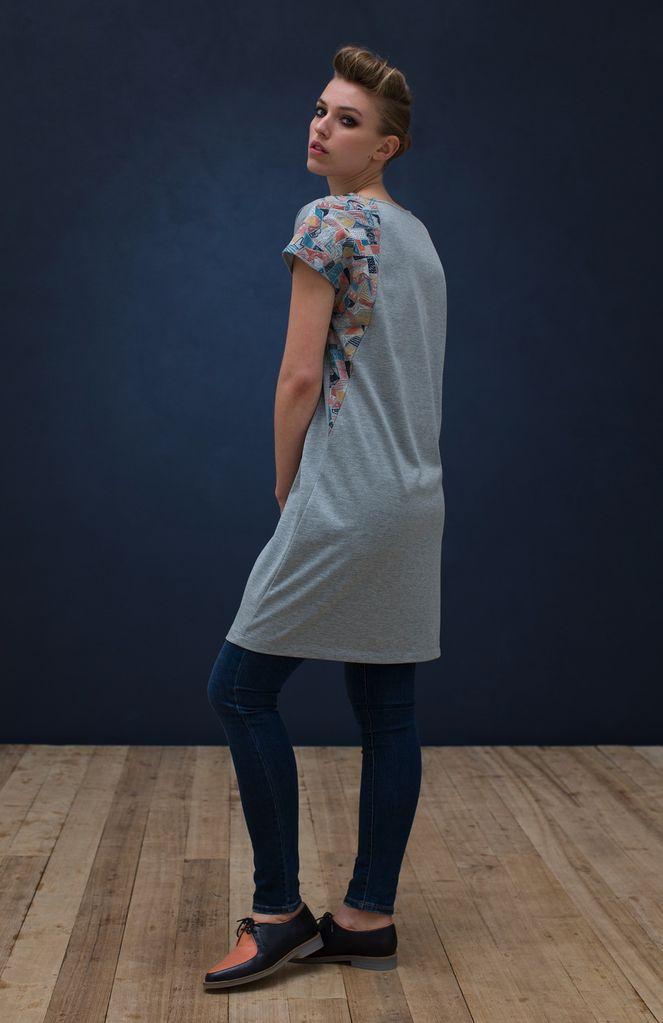 Australia S Grey Embroidered Borduren Jersey Dress