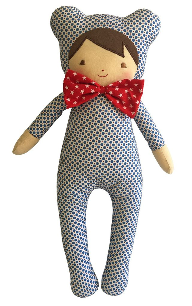 "Australia Baby in Bear Suit 17"" Blue Dottie"