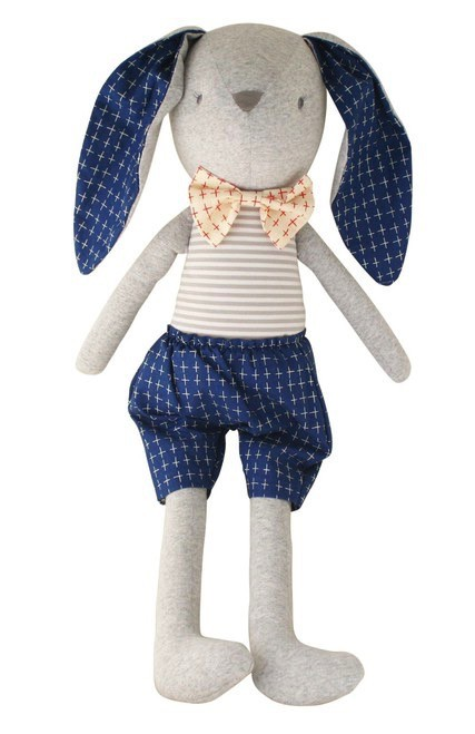 Australia Louie Bunny Cuddle Toy - Navy