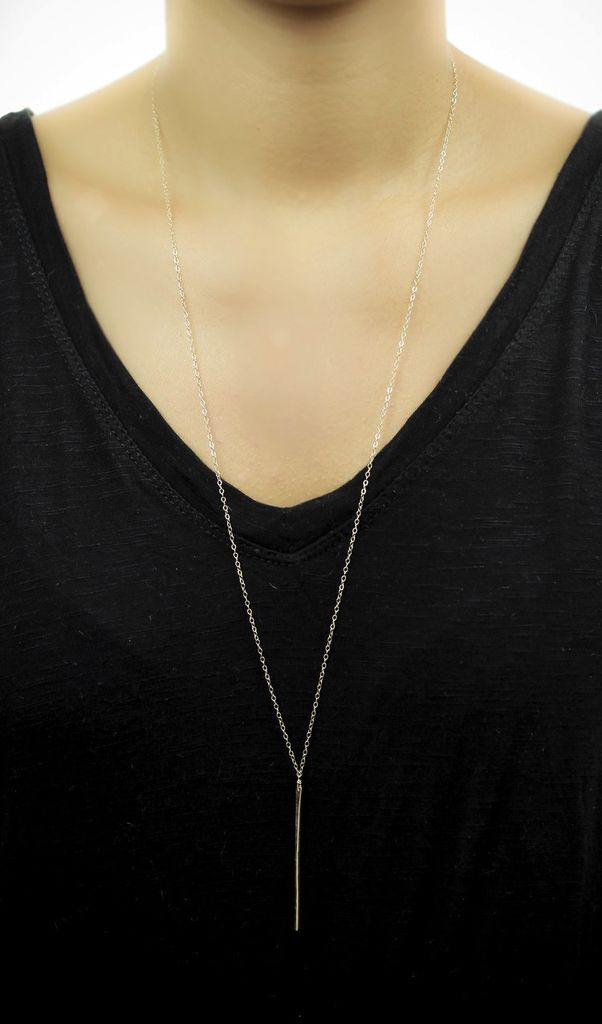 USA Long Gaia Necklace Gold
