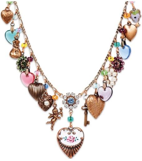 USA Enchanting Heart Charm Necklace