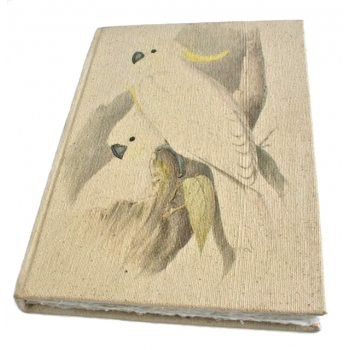 Australia Canvas A4 Parrot Journal