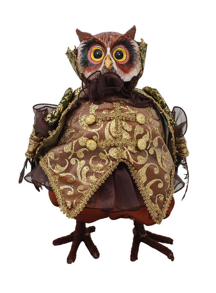 Australia Regal Owl Olive/Brown 30cmH