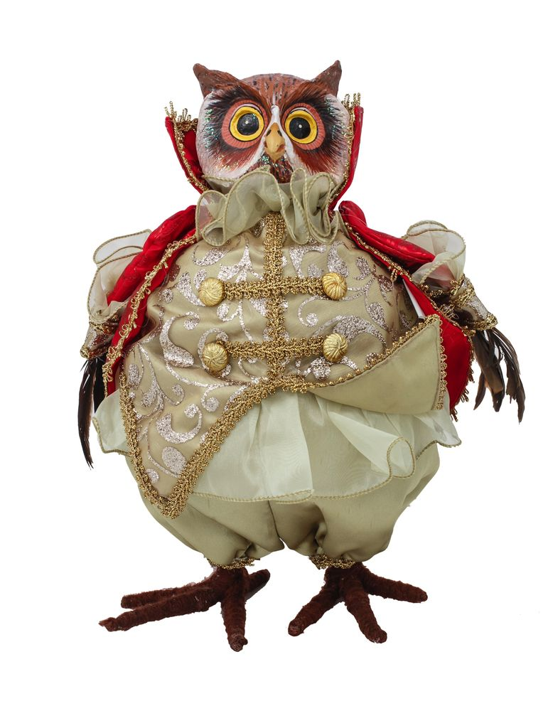 Australia Regal Owl Red/Sage 30cm H
