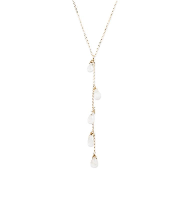 USA Cascade Moon Necklace - Gold