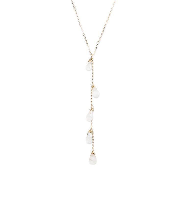 USA Cascade Moon Necklace - Gold