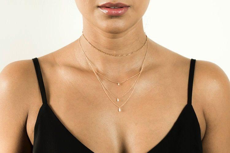 USA Tiera Moon Necklace - Silver