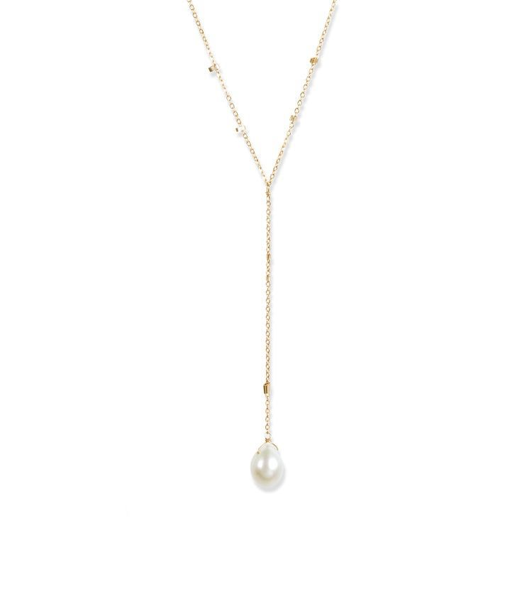 USA Lacuadra Pearl Necklace - Gold