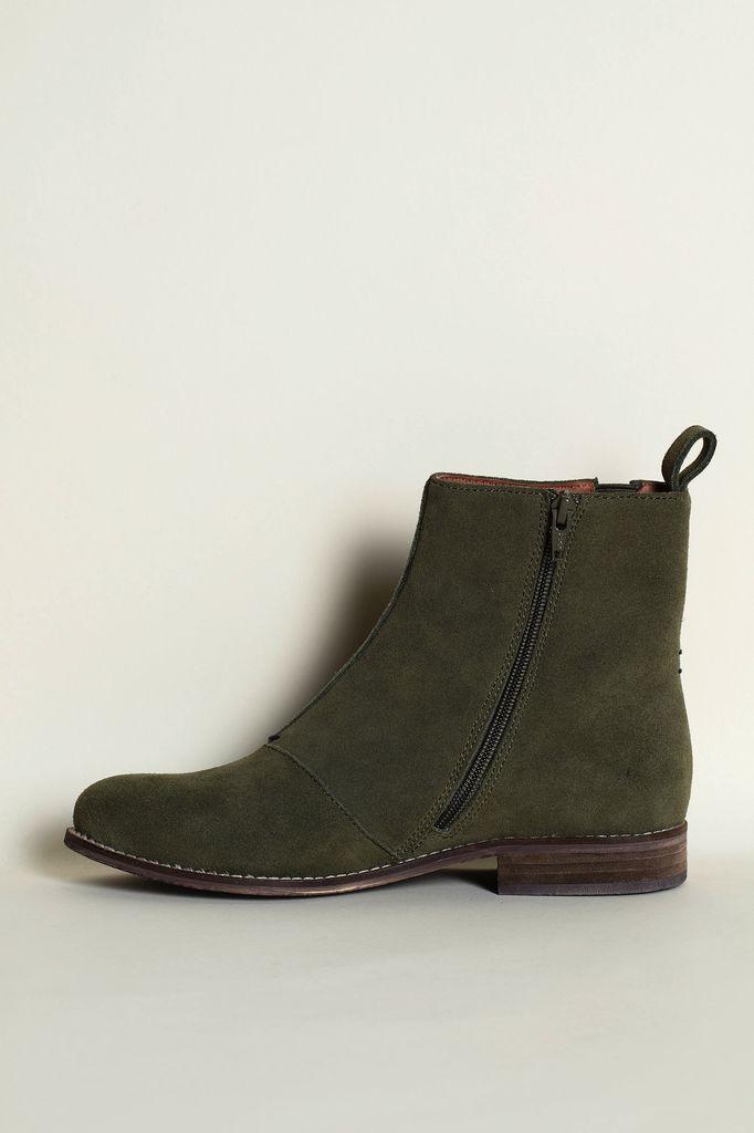 Australia 41 Olive Chelsea Boots WAS $235