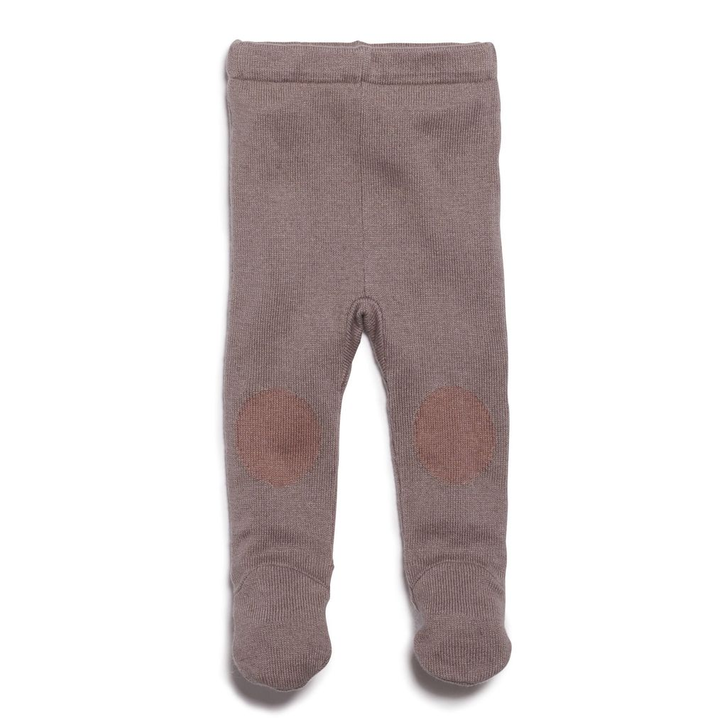 Australia SMOKE GREY KNITTED LEGGING WITH FEET - 6-12 months