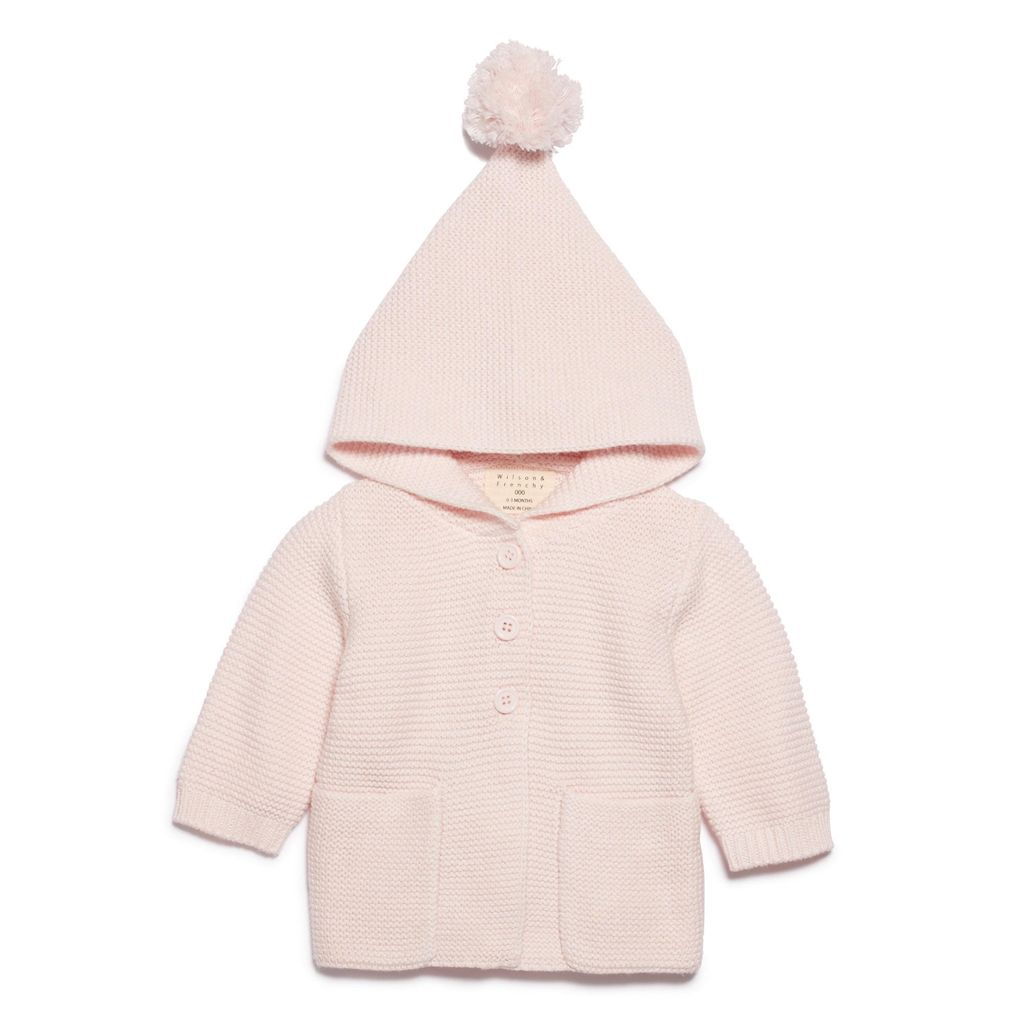 Australia MARSHMELLOW KNITTED JACKET WITH HOOD - 12-18 months