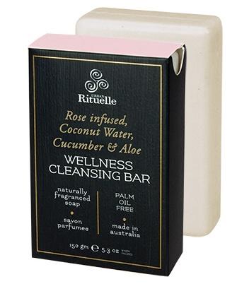 Australia HV 150gm wellness bar rose infused coconut water, cucumber & aloe