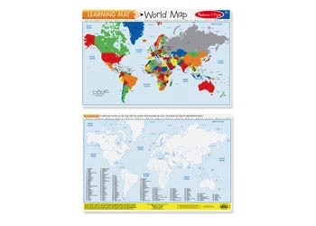 Australia M&D - World Map Write-a-Mat