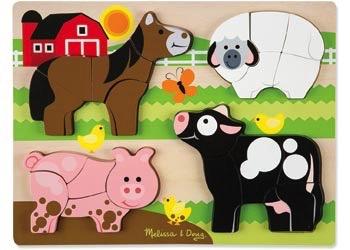 Australia M&D - Farm Animals Chunky Jigsaw