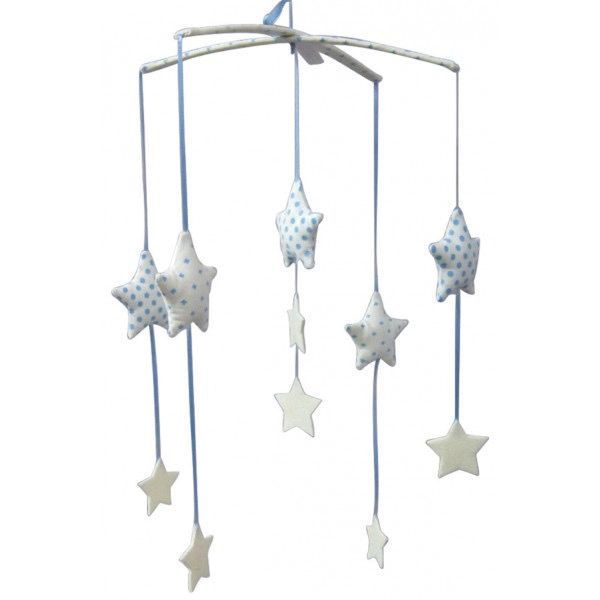 Australia Falling Star Mobile - Blue & Ivory