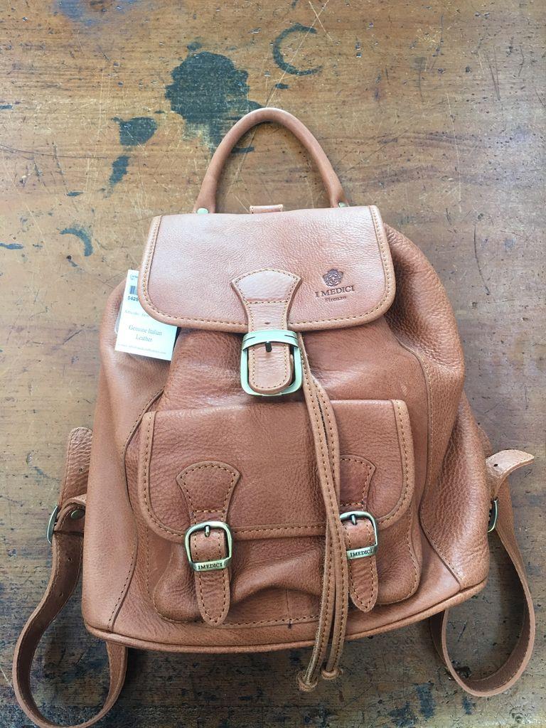 Australia Calfskin Backpack-Tan