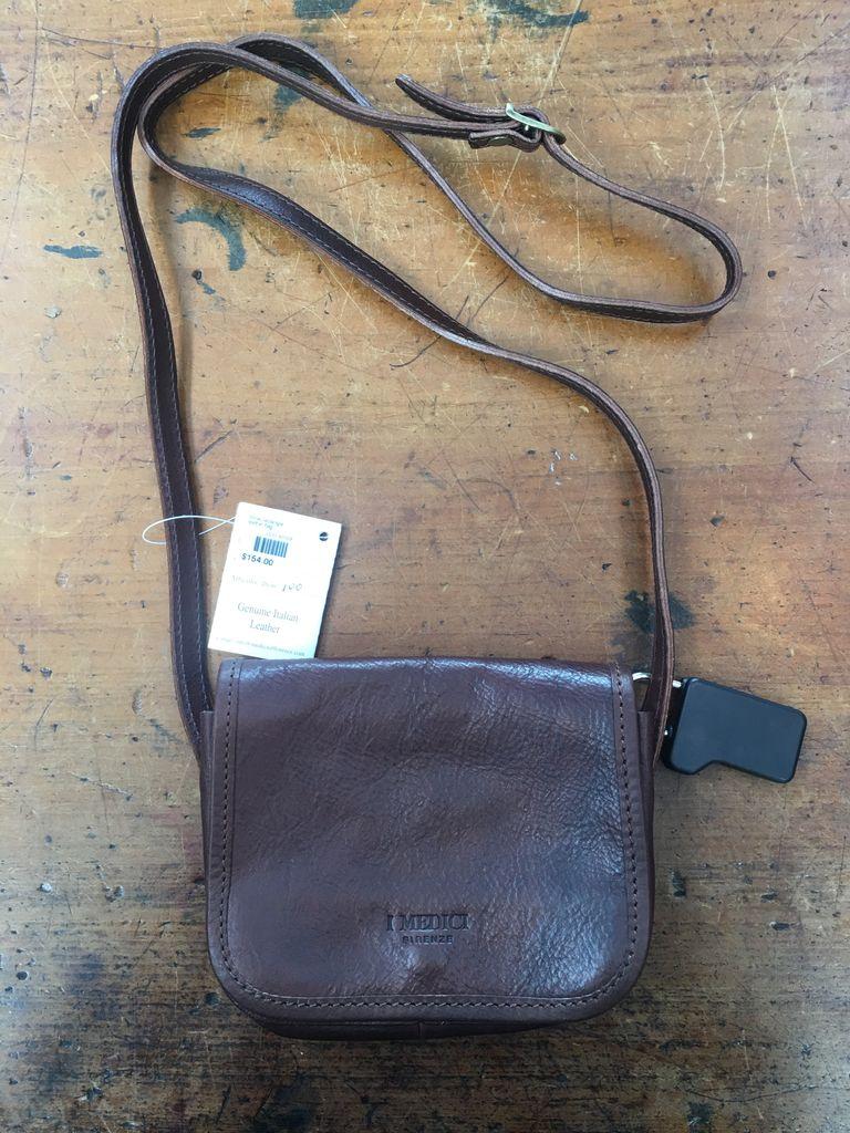 Australia Small rectangle leather bag-CHOCOLATE
