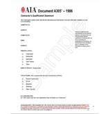 A305–1986, Contractor's Qualification Statement
