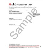B104–2007, Standard Form of Agreement Between Owner and Architect for a Project of Limited Scope