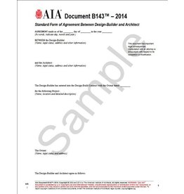 B143–2004, Standard Form of Agreement Between Design-Builder and Architect