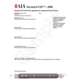 C191-2009 Std Form Multi-Party agreement for integrated project delviery