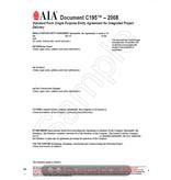 C195-2008 Standard Form Single Purpose Entity Agreement IPD