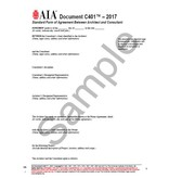 C401-2017 Standard Form Of Agreement Between Architect And Consultant
