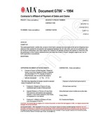 G706–1994, Contractor's Affidavit of Payment of Debts and Claims (Pack of 50)