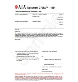 G706A–1994, Contractor's Affidavit of Release of Liens (Pack of 50)