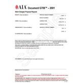 G709–2001, Work Changes Proposal Request