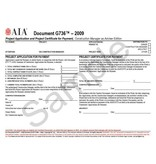G736–2009 (formerly G722CMa–1992), Project Application and Project Certificate for Payment, Construction Manager as Adviser Edition (Pack of 50)