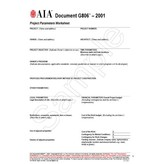 G806–2001, Project Parameters Worksheet (Pack of 50)