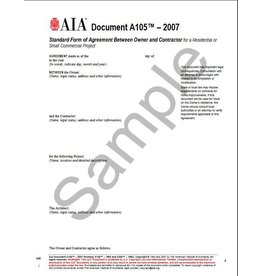 A105- 2007 Standard Short Form of Agreement Between Owner and Contractor