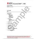 AIA Contract Documents D200 Project Checklist