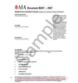 B201-2007 Standard Form Of Architects Services Design Construction Contract Admin