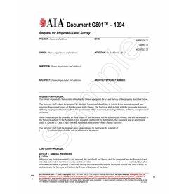 G601–1994, Request for Proposal—Land Survey