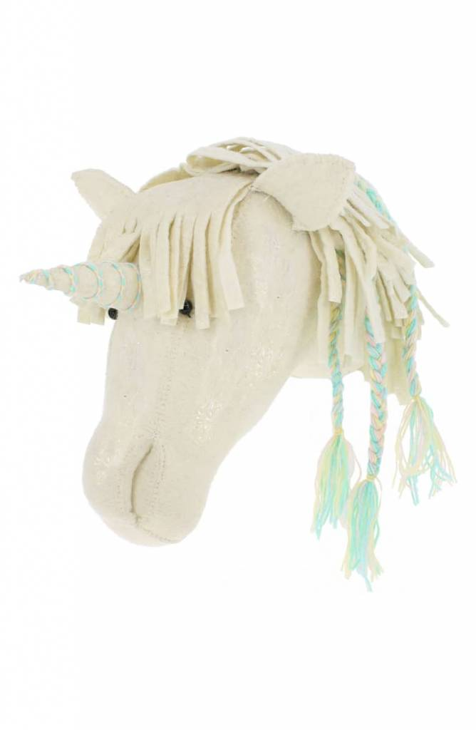 Opal Unicorn Head with Braids