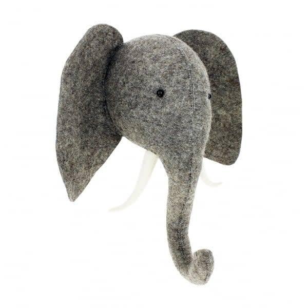 Elephant Head with Tusks