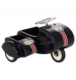 Black Scooter w/sidecar, metal