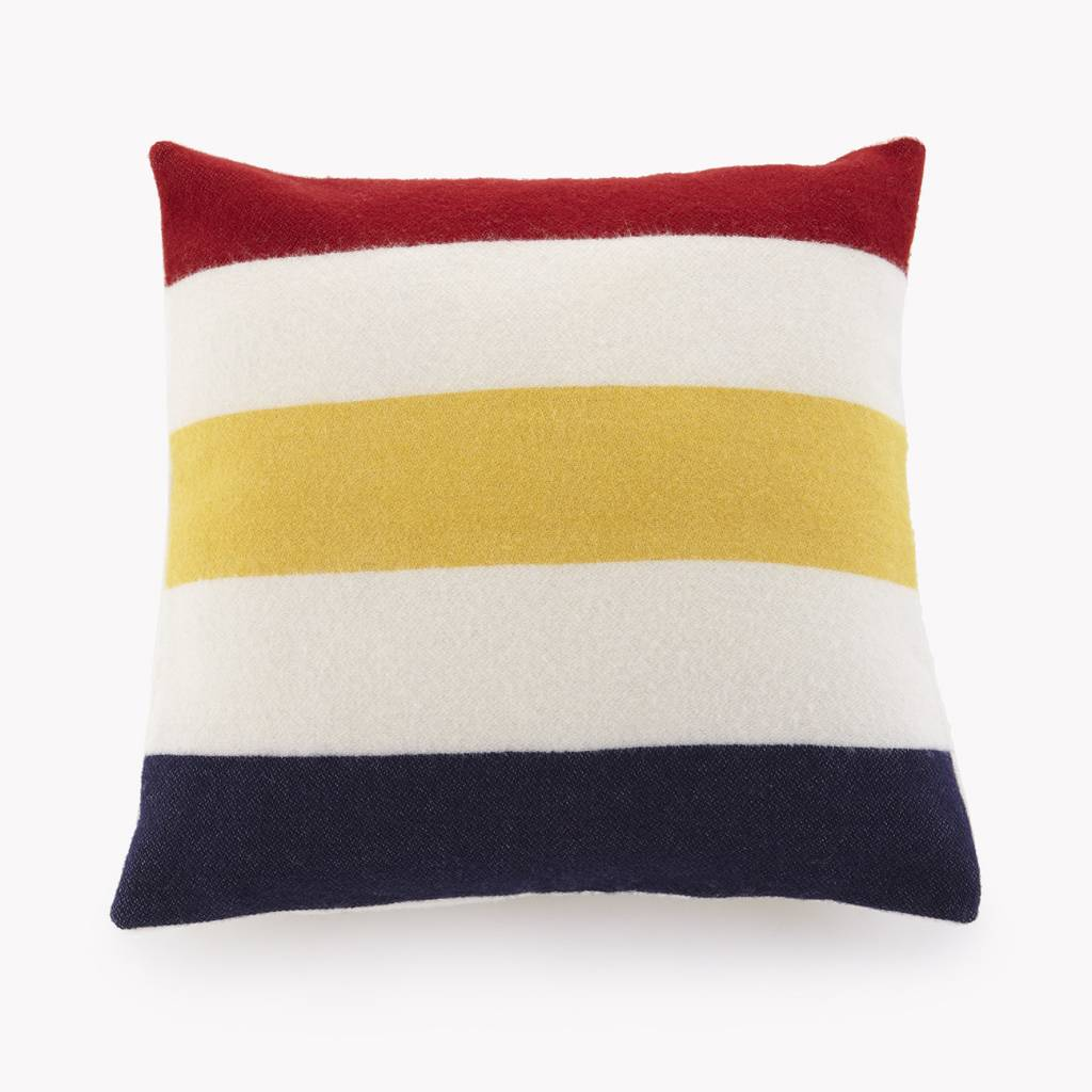 Faribault Woolen Mills Co. Revival Stripe Wool 20 x 20 Pillow - with insert
