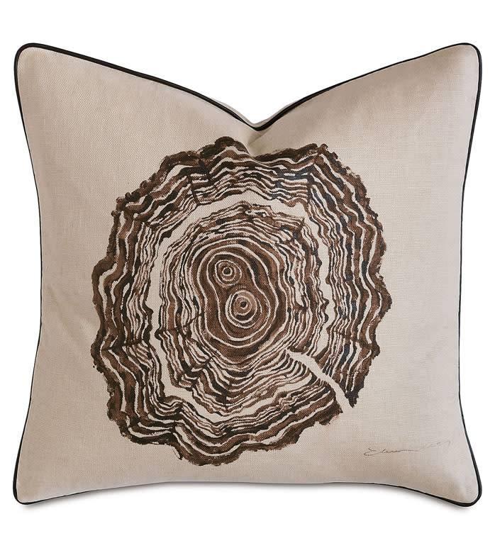 Decorative Pillow-Tree trunk hand painted21x21/knife edge/zipper