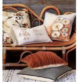 Decorative Pillow-Honey Mushrooms 13x 26 knife edge/zipper