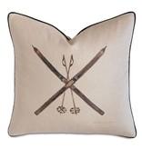 Decorative Pillow-Ski hand painted21x21/knife edge/zipper