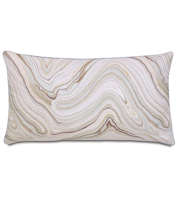 Decorative Pillow-Blake Mineral 15x26/knife edge/zipper