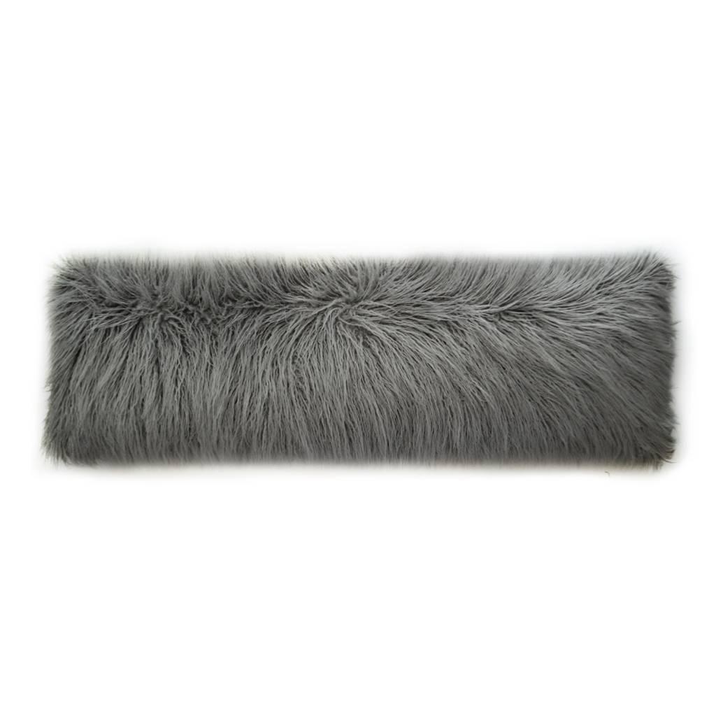 Llama Fur Bolster Pillow 14 x 42