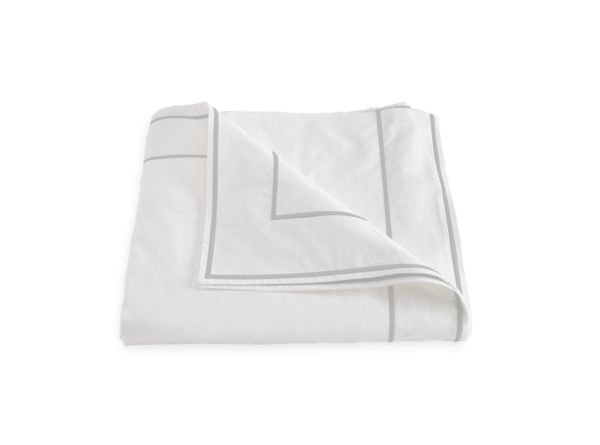 Matouk Matouk Ansonia Bedding Collection White 500TC Percale Satin Stitch Detail