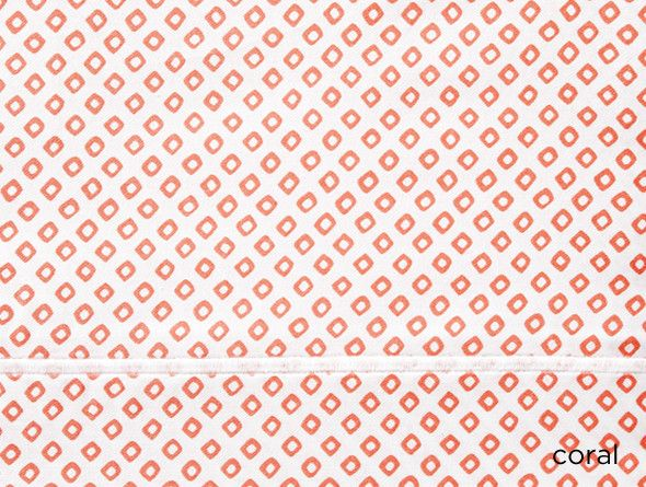 Peacock Alley Peacock Alley Bedding-Emma/Geometric Coral King Sham 20x36