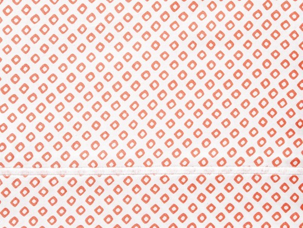Peacock Alley Peacock Alley Bedding-Emma/Geometric Coral Twin Duvet 68x90