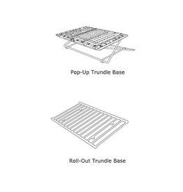 Wesley Allen Highrise Trundle Bed Frame-Twin